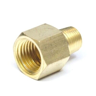 "Pipe Reducer Adapter Brass 1/4"" Female NPT to 1/8"" Male NPT Water Oil Gas Air"