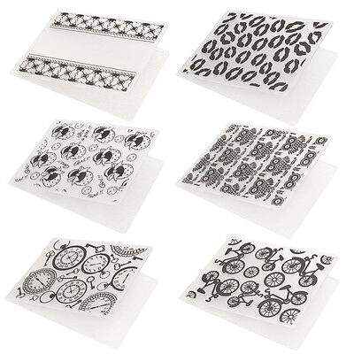 Plastic Embossing Folder DIY Card Template Scrapbooking Decor Lips Baby Shoes