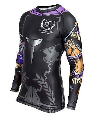 BJJ Rash Guard, Long Sleeve - Equites Singulares Agusti (Black) BBJ MMA No-gi