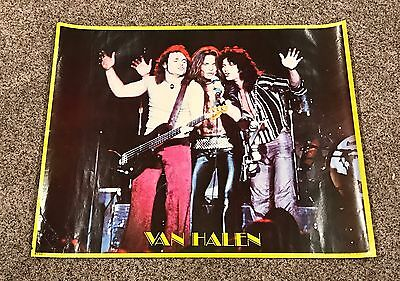 "Original 1980 Van Halen Retro Band Poster 30.5""x24"" David Lee Roth Scarce!"