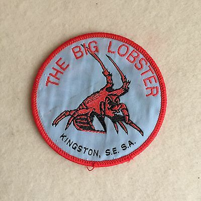 Vintage 'The BIG Lobster' KINGSTON S.A. EMBROIDERED Cloth PATCH Souvenir BADGE