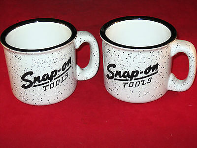 2 Vintage Snap On Tools 1950's Logo Campfire Large Mug Coffee Soup Chili 15oz