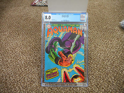 Aquaman 44 cgc 8.5 DC 1969 ow/w pages VF Justice League of America movie 12 cent