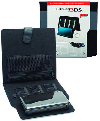Officially Licensed Nintendo 3DS Console and Games Carry All Folio Case - Black
