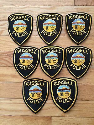 Set Of 8 Used Russell Township Ohio Police Patches