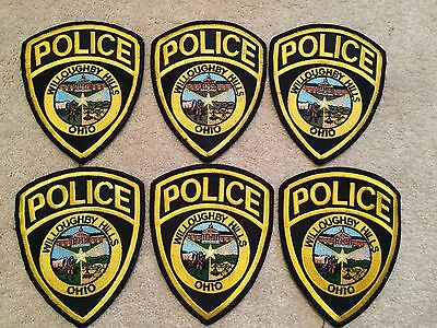 Set Of 6 Used City Of Willoughby Hills Ohio Police Patches