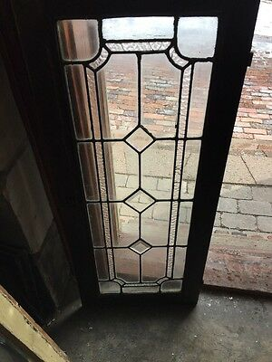 Sg 1006 Antique Beveled Glass Center Transom Window Or Cabinet Door