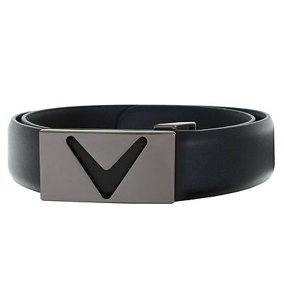 49% OFF Callaway 2016 Golf Gunmetal Cut Out Chev Mens Leather Golf Buckle Belt