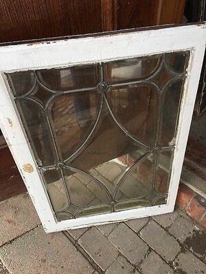 Sg 1014 Antique All Beveled Glass Window With Four Point Jewels
