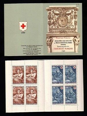STAMPS - France Carnet CROIX ROUGE 1969 NEUF** LUXE