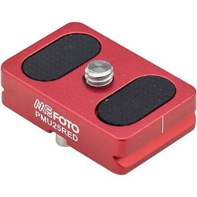 MeFOTO Camera Quick Release Plate for BackPacker Air Tripods, Red