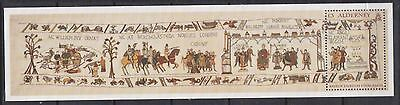 GB ALDERNEY 2014 Bayeux Tapestry Final Cotton Panel Sheet SG MSA521 FDC MILITARY