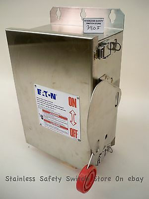 Eaton Cutler-Hammer Stainless DH361UWK 30a 600v NonFused Safety Switch Refurbish