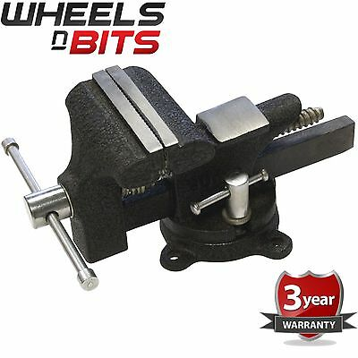 90mm Home Vice Cast Iron Hardened Steel Jaws Diy Workbench Mount Tool D4000
