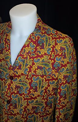 """Vintage 1960's Paisley Jacket 38"""" 40"""" Chest Originally bought on Carnaby st"""