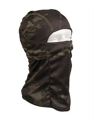 BALACLAVA Tactical Lightweight Head cover Multitarn black camouflage