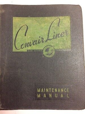 1950 Convair Liner Model 240 Original Handbook Of Structural Repair