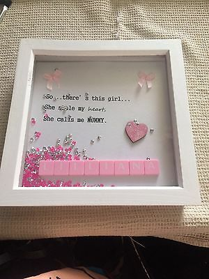 Personalised Scrabble Art Picture Frame Christmas Gift/Wedding/Engagement/Family