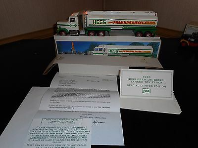Hess Truck 1993 Premium Diesel Tanker Truck In New Condition W/papers