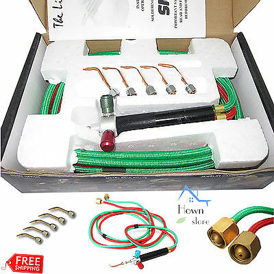 Gas Torch Acetylene Soldering Cutting Oxygen Kit 5 Weld Professional Tool Set