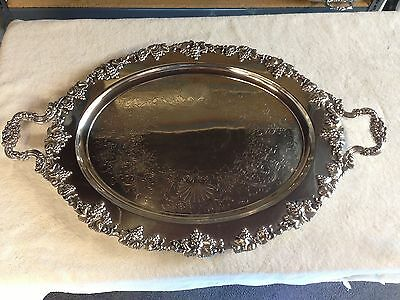 Fine Quality Barbour Silverplate Tea Tray GRAPE Pattern