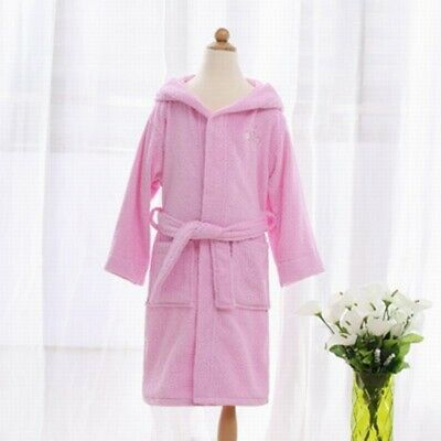 Hot Girls Bath Robe Rabbit Ear Hooded Kids Sleepwear Household Sleeved Homewear
