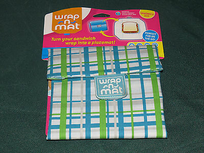 MM Sandwich Wrap n Mat Reuseable Lunch Box snack bag Made in the USA