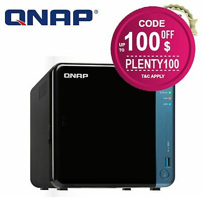 QNAP TS-453BE-4G 4 Bay Diskless NAS Intel Celeron Quad Core 1.5GHz CPU 4GB RAM