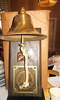 NOS-Vintage Bar Advertising Tip Display Schlitz Beer Nautical Ship's Watch Bell
