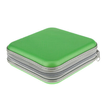 40 Disc CD DVD VCD Storage Holder Sleeve Case Plastic Box Carry Bag Green