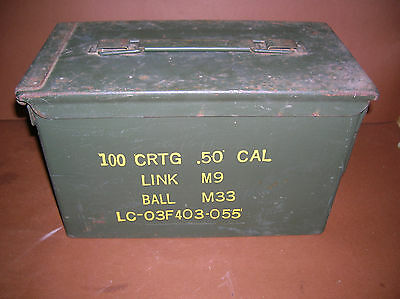 M2A1 ammo can stenciled 50 cal army box Link M9 Ball M33 NICE INSIDE