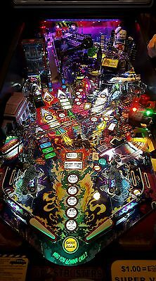 Lord of the rings/Ghostbusters/Batman 66/Scared Stiff Pinball trough light