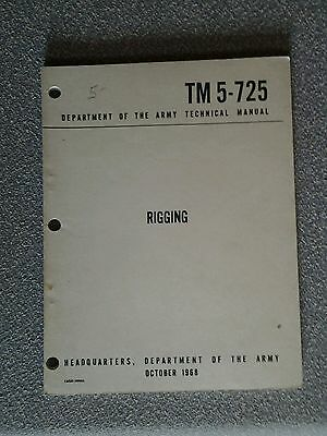 """U.S. Army Technical Manual """"RIGGING"""" TM 5-725 October 1968"""