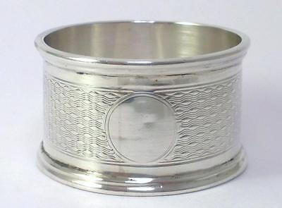 Antique hallmarked Sterling Silver Napkin Ring (30g) – 1908  (not engraved) -{2}
