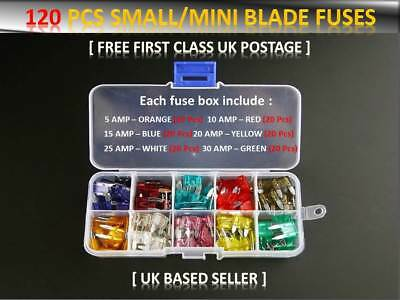 Saab 9 3 CONVERTIBLE  STANDARD MINI BLADE CAR FUSE KIT 5 10 15 20 25 30 A