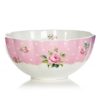 Royal Albert Baking Bliss Mixing Bowl 1 litre new English Roses pink & white 1lt