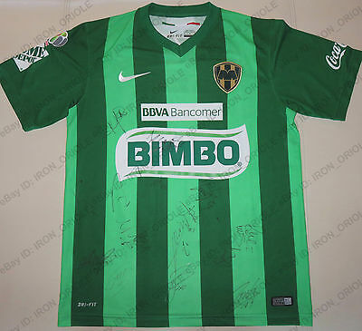 2016 RAYADOS MONTERREY team signed Green Attack soccer jersey - 100% Authentic