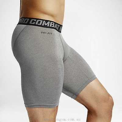 "Nike Pro Combat Core 2.0 Men's Compression 6"" Shorts 519977-021 Grey MEDIUM NEW"