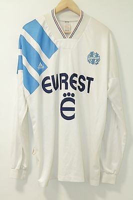 Marseille 1993-1994 Adidas Home Shirt Large L/S