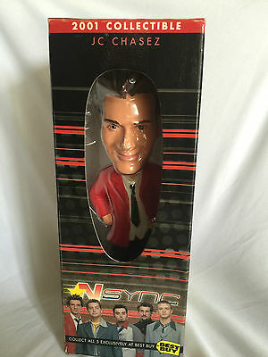 NSYNC JC Chasez Exclusive 2001 BEST BUY Collectible Bobble Head NIB