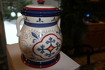 Nonni's Biscotti Large Cookie Jar With Lid - Excellent Condition