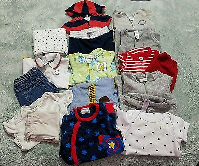 POLO RALPH LAUREN BABY BOY 3M, 3-6 AND 6M. PRE-OWNED 17pz
