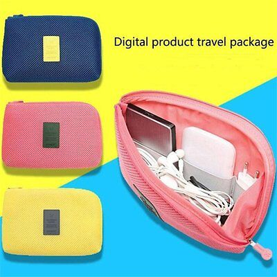Travel Mesh Organizer Bag Case Pouch Toiletry Digital Charger Storage Cosmetic