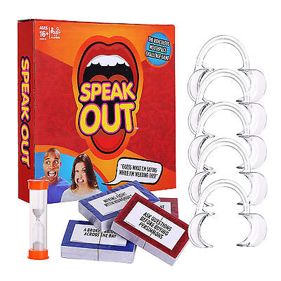 2017 New Funny Speak Out Board Game Mouthguard Challenge Game Gift