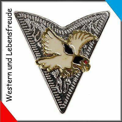 Western Collar tips Eagle with red Eye gold coloured Country New