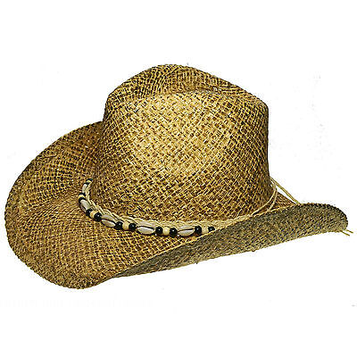 Hat Straw Hat beige malleable with Shelter Hatband small (54-56cm) unisex new