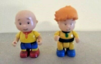 "2 CAILLOU Figures 2.5""  Leo in Pajamas + 2"" Caillou"