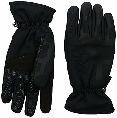 1b534ba40a99e Under Armour Men's UA ColdGear Infrared Storm Stealth Gloves Small Black