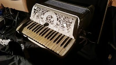 Vintage EXCELSIOR ACCORDION Mother of Pearl Celluloid ITALY US PATENTS Serial NR