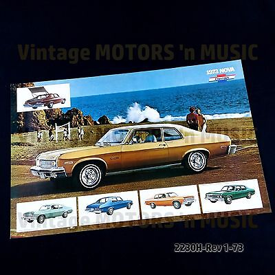 1973 Chevrolet NOS Uncirculated NOVA Poster Brochure 2230H 1/73 NO FOLDS Mint!